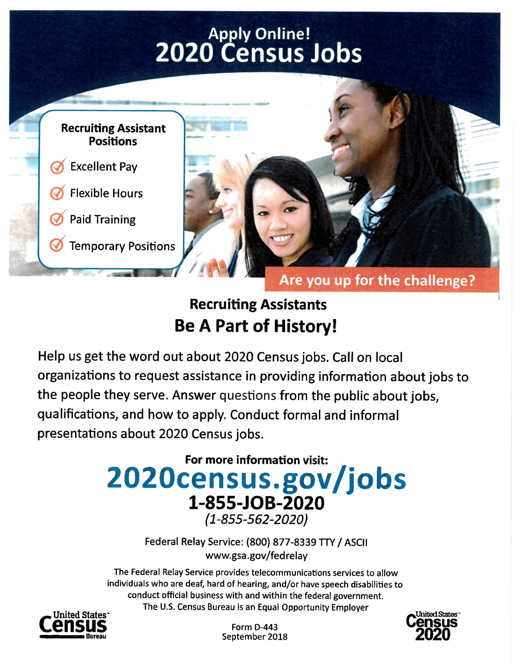 2020 census jobs flyer